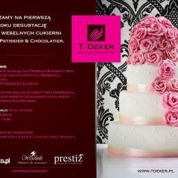 Degustacja tortów weselnych T.Deker przy kieliszku Prosecco